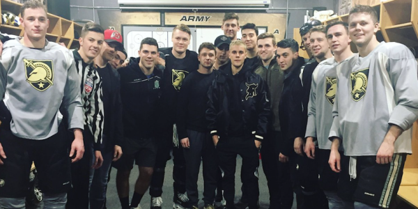 Justin Bieber Plays Hockey With USMA Cadets, Manages Not To Die