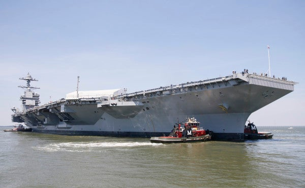 The Navy's Futuristic New Aircraft Carrier Is Finally Hitting The Seas For Testing