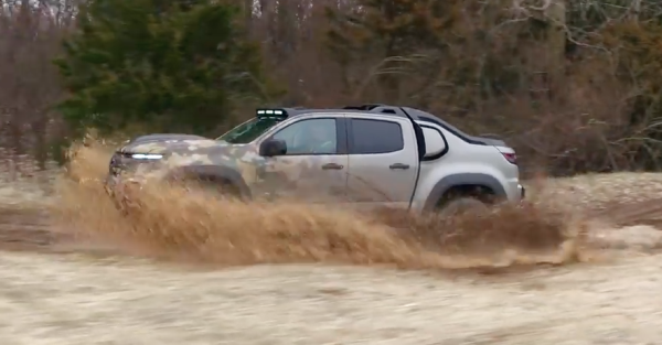 Watch The Army's Stealthy New Hydrogen-Powered Chevy Colorado ZH2 In Action