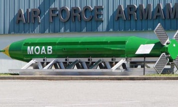 This Is What The 'Mother Of All Bombs' Looks Like When It Hits Its Target