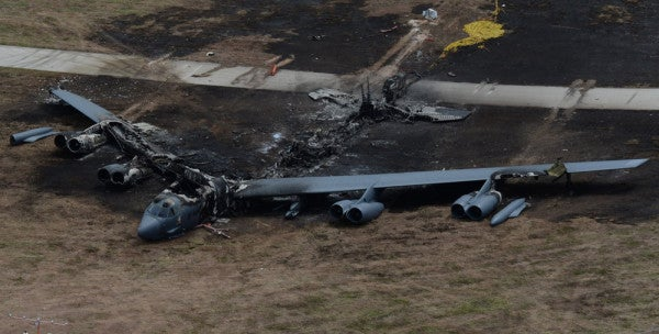 How A Flock Of Birds And Mechanical Failure Downed A B-52 Stratofortress Bomber In Guam