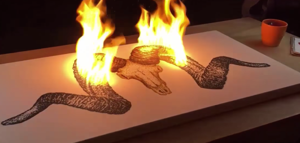 This Guy Paints With Gunpowder, And It's Exactly As Cool As It Sounds