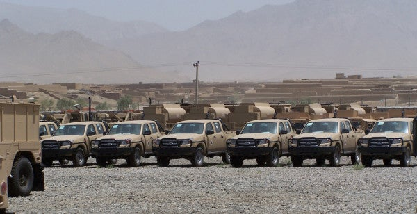 What The Hell Are Afghan Army Pickup Trucks Doing In Iraq?