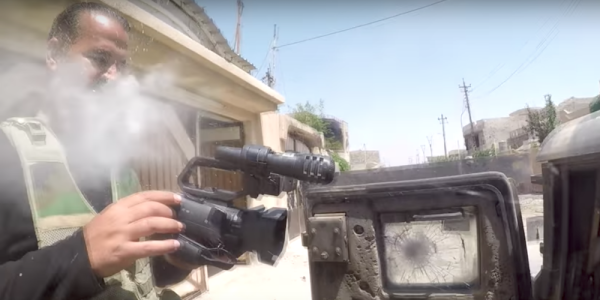 Watch An Iraqi Journalist's GoPro Deflect An ISIS Sniper's Bullet In Mosul