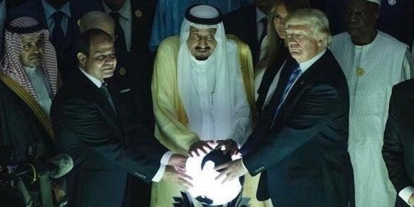 Here's The Deal With That Glowing Orb Trump Touched In Saudi Arabia