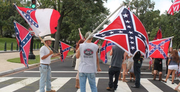 2 Marines Arrested After Flying White Nationalist Banner At A Confederate Rally