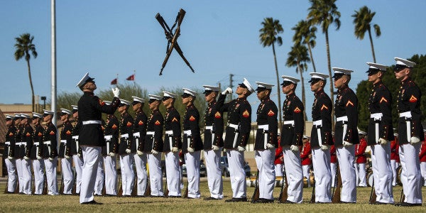Watch This Incredible Performance By The Corps' Silent Drill Platoon For Marine Day