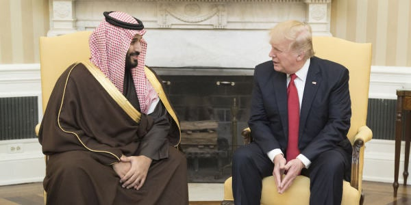 Trump's $110 Billion Saudi Arms Deal Is Actually 'Fake News,' Report Says
