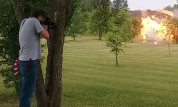 Watch Exploding Fridge Target Practice Fail In The Worst Possible Way