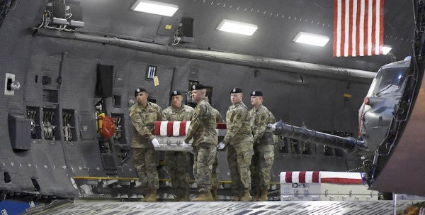 Soldiers Killed In Afghanistan Return To US In 'Very Emotional' Ceremony