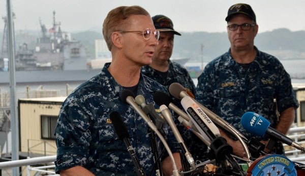 USS Fitzgerald Saved By Crew's 'Heroic Efforts,' 7th Fleet Commander Says