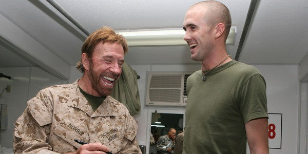 Chuck Norris Stops By The Marine Corps To Deliver The Ultimate Pep Talk