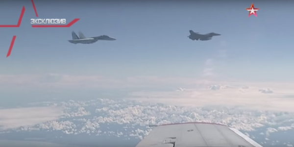 Watch This F-16 'Air Pirate' Make The Russian Defense Minister's Plane Very Nervous