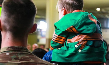 Families Say Goodbye As Soldiers From The 82nd Airborne Head To Kosovo