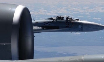 US Reveals Intense Photos Of Armed Russian Fighter Buzzing Air Force Jet