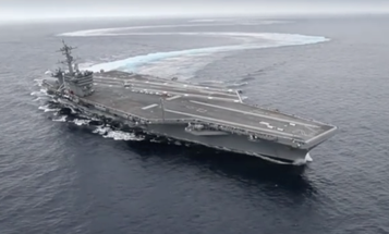 Watch The USS Abraham Lincoln Turn On A Dime On The Open Seas