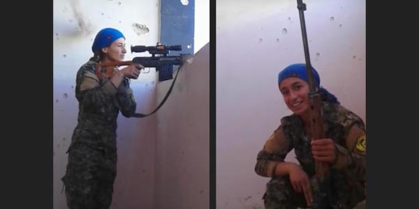 Kurdish Sniper Nearly Gets Shot In Face By ISIS, Laughs, And It's On Video