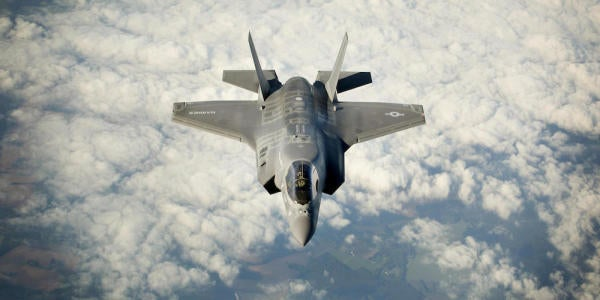 Check Out This F-35 Firing Off A Missile While Completely Inverted