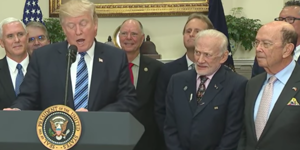 Buzz Aldrin Is The Best Part Of Trump's Space Council Announcement