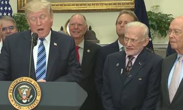 Buzz Aldrin Is The Best Part Of Trump's Space Council Announcement