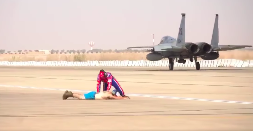 We salute the airmen who went full Ricky Bobby on the flight line in Saudi Arabia