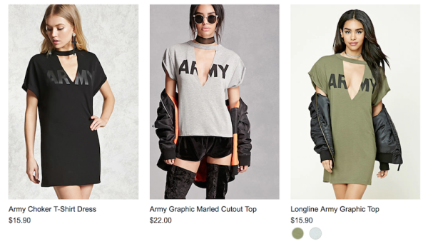 Forever 21 Ripped Off The Army's PT Shirts And, Somehow, Made Them Even Worse