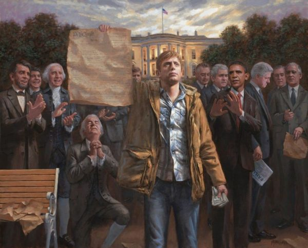 The Tea Party's Favorite Painter Is Going Wobbly On Trump