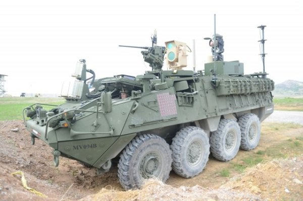 The Army's New Modified Stryker Has A Special Laser Surprise For ISIS