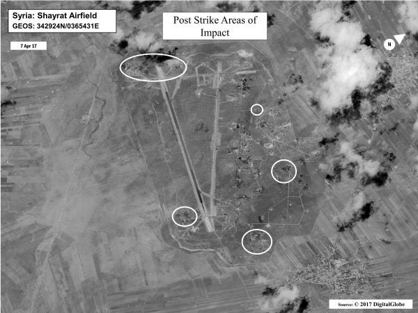 Syrian Forces Defiantly Take Off From Airfield Hit By US Cruise Missiles