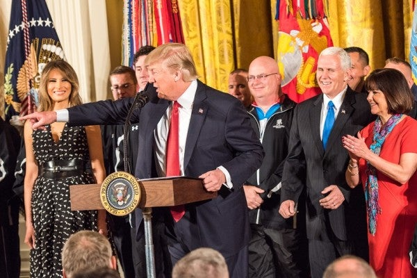 Our Way Of Life Endures Because Of You, President Tells Wounded Vets