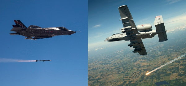 The F-35 And A-10 Warthog Will Go Head To Head In 2018