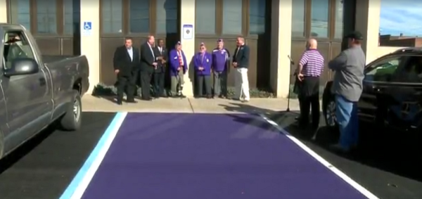 Ohio Town Creates Purple Parking Spaces For Wounded Vets