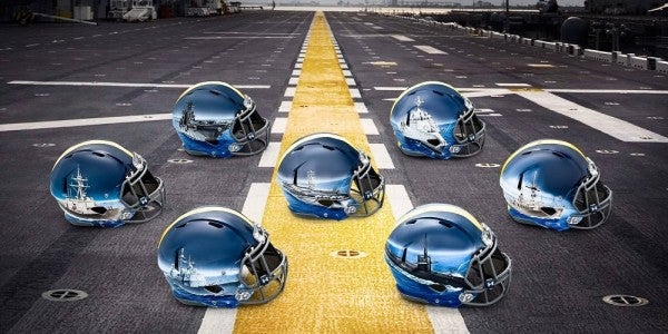 The Naval Academy's New Helmets For the Army-Navy Game Are Badass