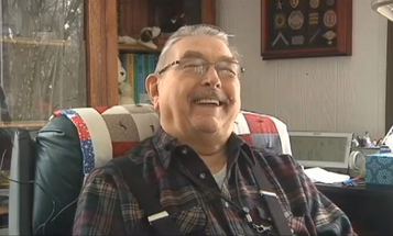 This Man Served In WWII. Now He Knits Hats For Other Vets