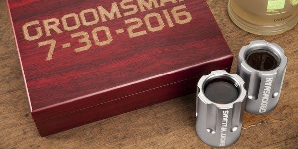 Get Nice And Loaded With These 6-Shooter Shot Glasses