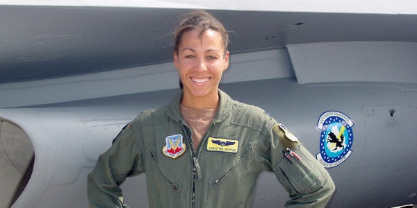 Maj Christina Hopper Conquered Race, Gender, And The F-16