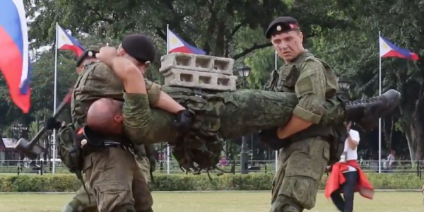 Russian Marines Go Full 'Bloodsport' During Show-Of-Force Demonstration In The Philippines
