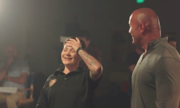 A Surprise From The Rock Left This Combat Veteran In Tears
