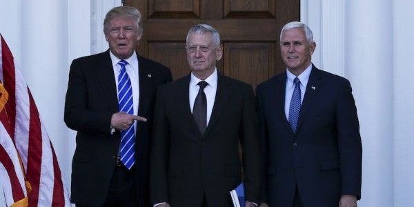 Mattis Becomes The First Official Member Of Trump's Administration