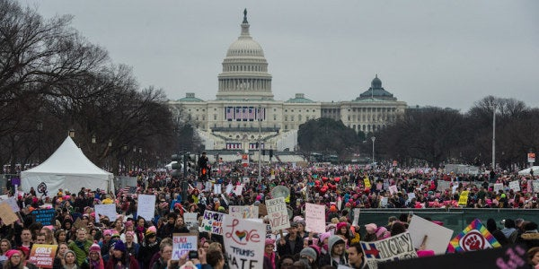 Veterans Talk About Why They Joined The Women's March In DC
