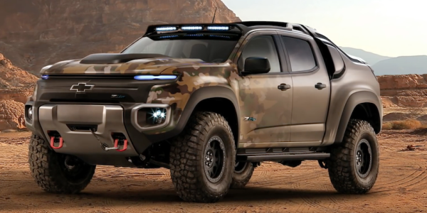 Troops Might Soon Be Riding The Hydrogen-Powered Chevy Colorado ZH2 Into Battle