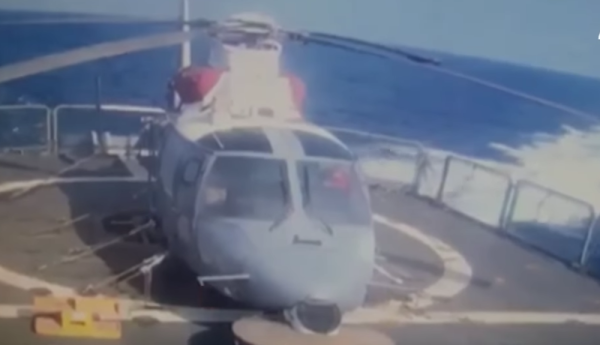 Watch: Confirmed Footage Of A Houthi 'Suicide Gunboat' Ramming A Saudi Frigate