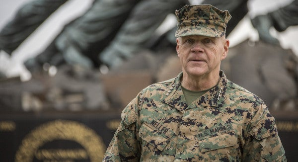 Gen Neller Wants Marines To Lay Off The Sauce In 2017