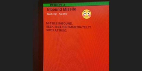Oops. This 'Incoming Missile' Warning Was Accidentally Sent Out Across Air Base