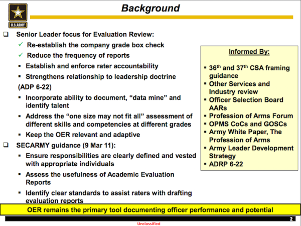 Why The Army's Officer Evaluation System Needs A Complete Overhaul