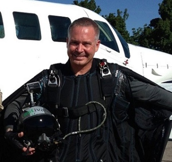 This Pararescueman Is Raising Awareness For Vets By Jumping Out Of Planes In A Wingsuit