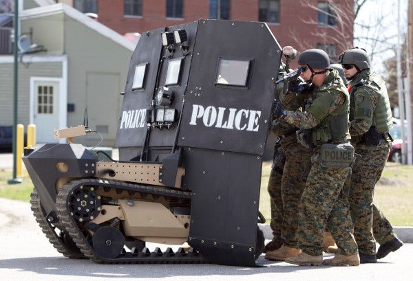 Obama Issues Ban On Police Use Of Military-Grade Equipment