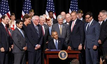 Obama Signs Veterans Health Care Reform Bill