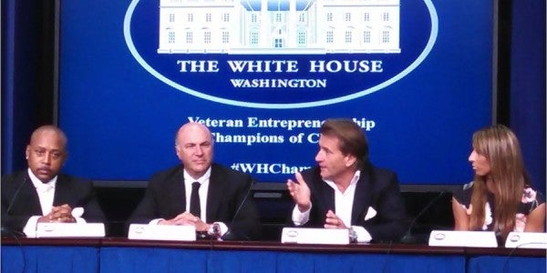 "Vets Receive Smart Advice From ""Shark Tank"" Investors At White House Event"