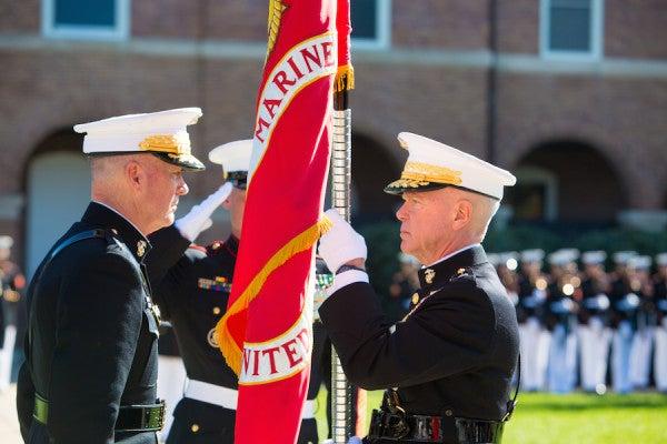 Dunford Succeeds Amos As Marine Commandant